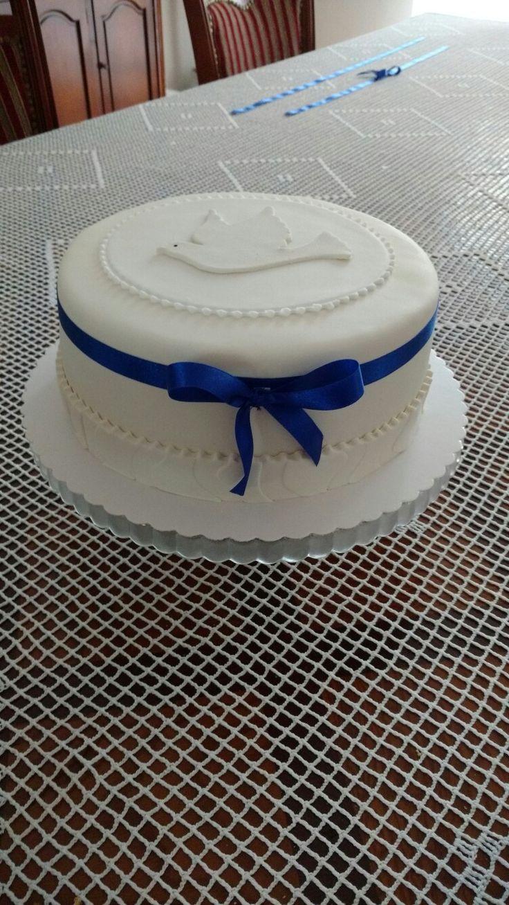Komunijny tort dla chłopca
