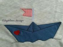 Stickdatei Doodle - Schiff Papierschiffchen Boot