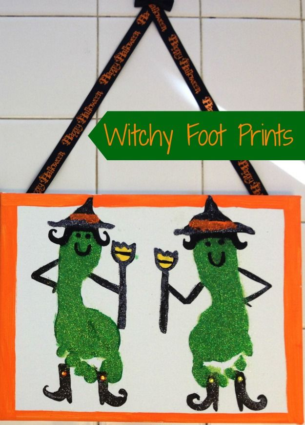 Witch Foot Prints | Halloween Crafts @Alice Cartee Cartee McDaniel This is so great!