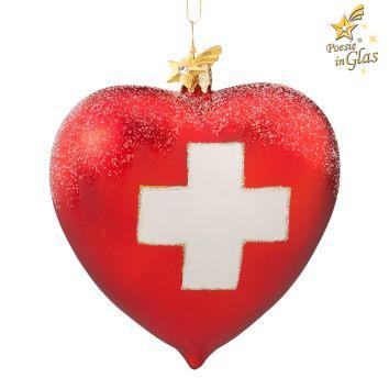 Herz Schweizer Flagge