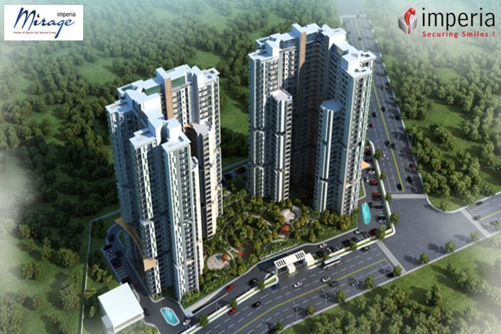 Imperia ‪Mirage‬ Residential Project Located in Jaypee Sports City, Yamuna Expressway on the sidelines of the F1 tracks on Buddh International Circuit, Mirage Homes is a 5 acres (20234 sq. mt.) complex with 6 residential towers.