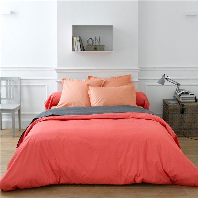 housse de couette percale best orange abricot rose corail. Black Bedroom Furniture Sets. Home Design Ideas