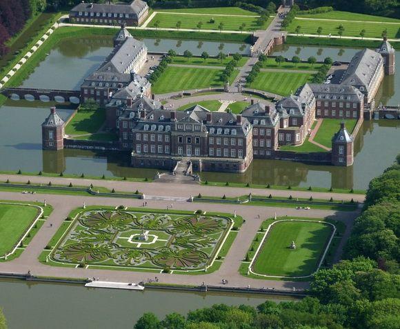 Schloss Nordkirchen is located in Westphalia, Germany. castle