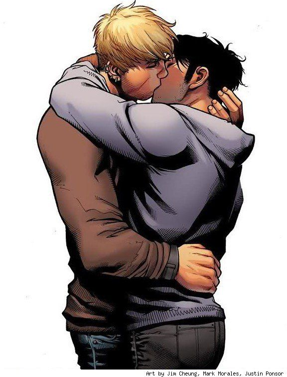 At Last!! Hulkling & Wiccan First Kiss