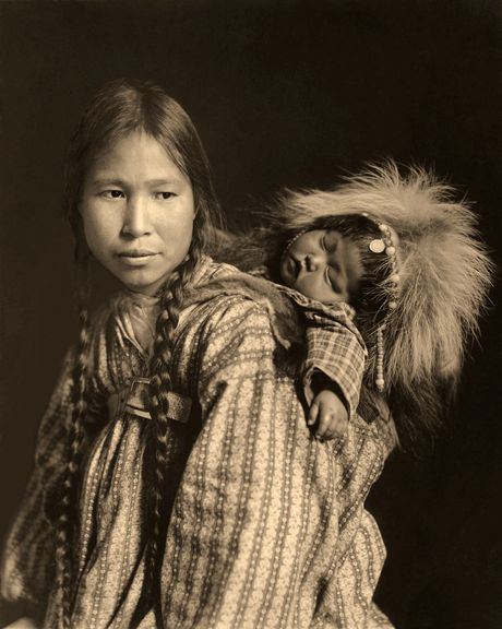 Madonna of the North, Native American by Edward Curtis