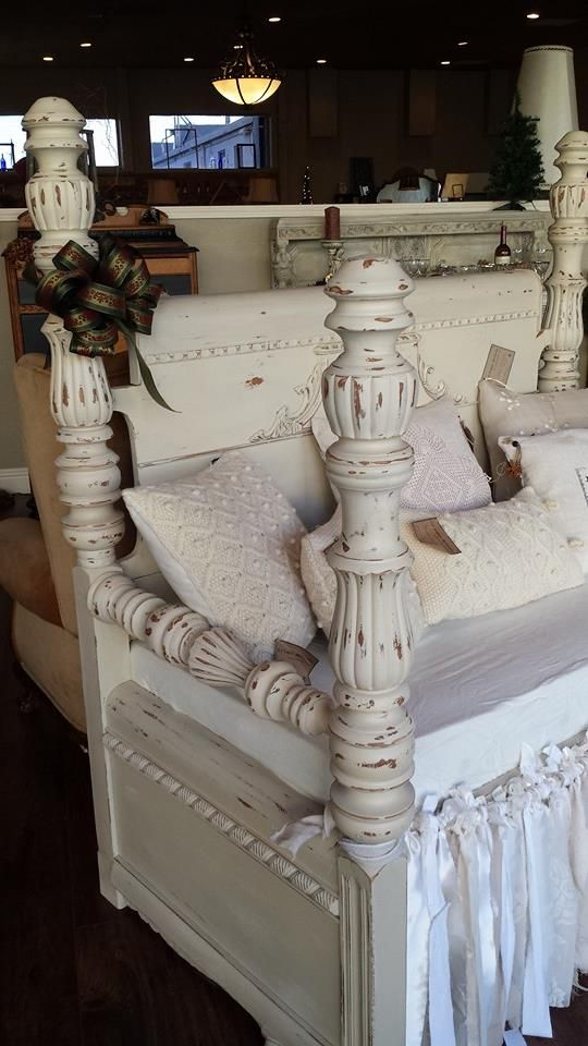 1920's Waterfall Headboard and Footboard Repurposed into A Bench