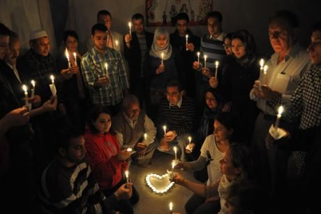 Vigil for Syria, organized in Gaza in 2013. Photo: Oxfam
