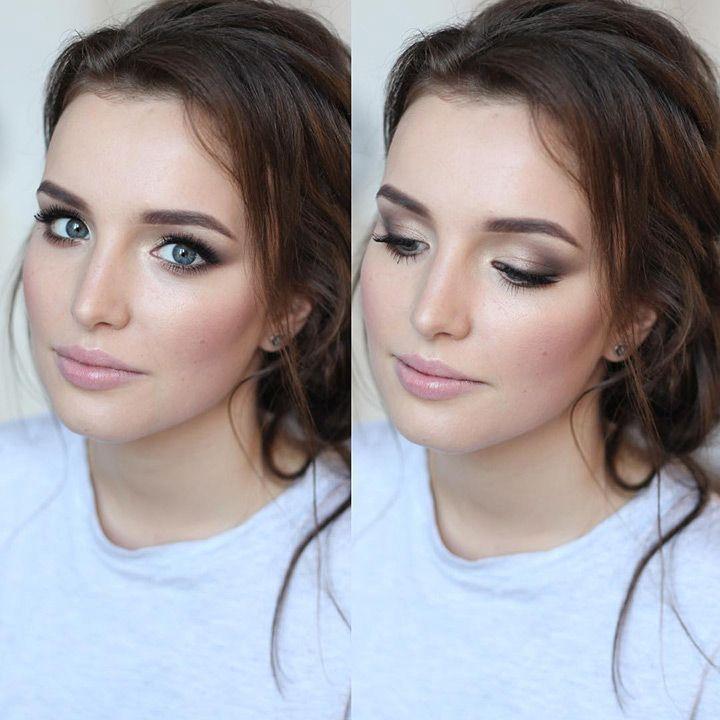 love this soft smokey eye - beautiful soft bridal makeup