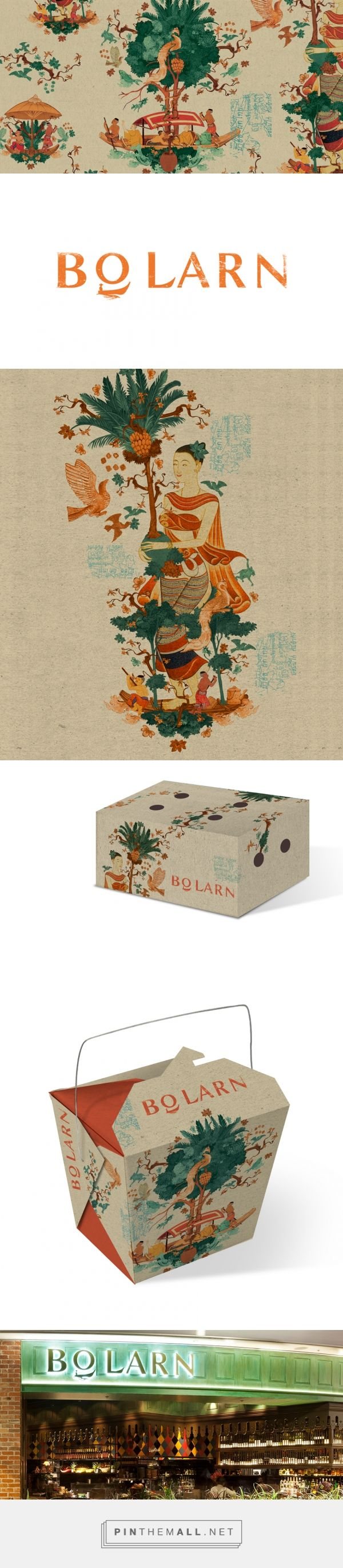 Bo Larn Vintage Thai Restaurant Branding and Packaging by The Creative Method | Fivestar Branding Agency – Design and Branding Agency & Curated Inspiration Gallery