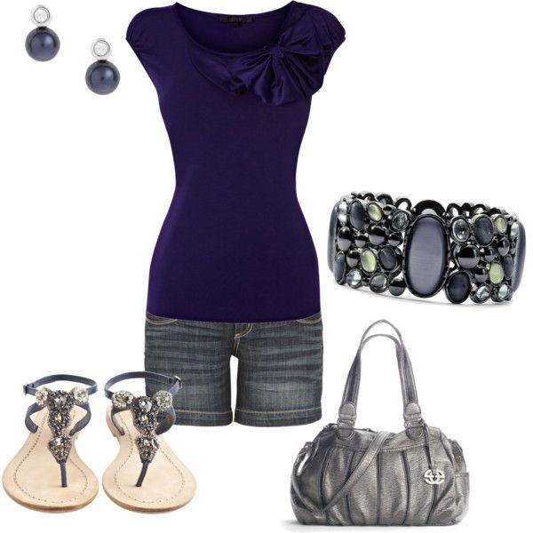 Simple Summer Style, created by #kaylee-809 on #polyvore. #fashion #style Antik Batik Liz Claiborne