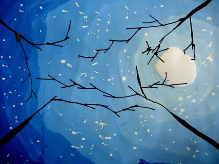 elementary art education lesson 4th grade tints winter