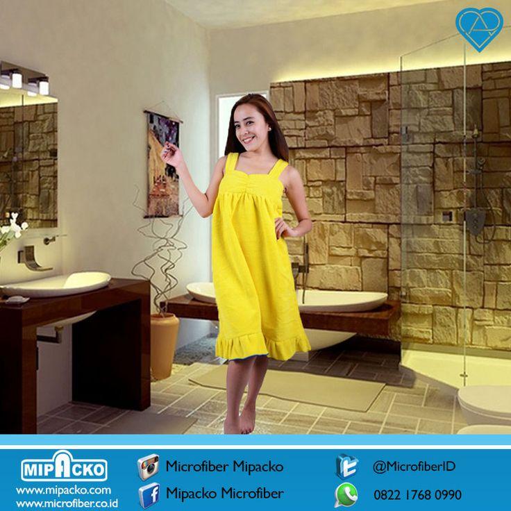 GEBYAR CUCI GUDANG PROMO BESAR BESARAN !!! Handuk mandi model dress rempel microfiber grade B yang berdaya serap tinggi, design menarik dengan 12 varian warna pilihan sesuai selera, pesan sekarang juga di WA 0821 2661 7010