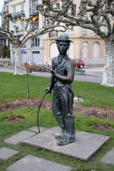 I got my picture taken with Charlie Chaplin in Vevey, Switzerland.