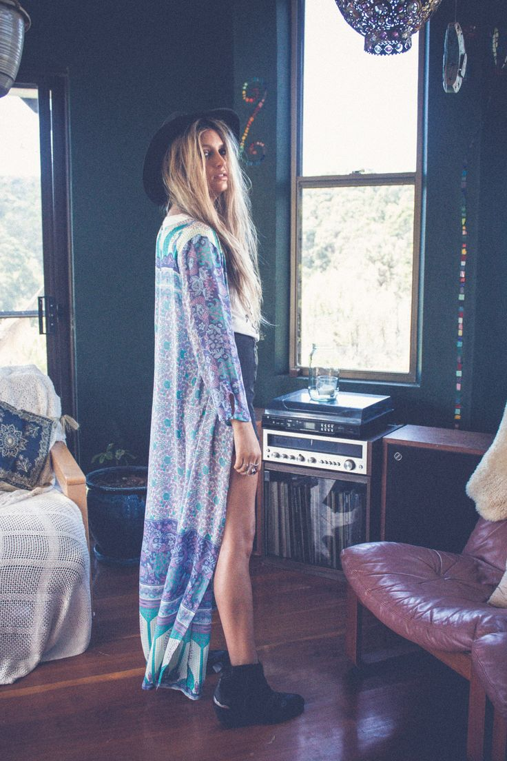 ➳➳➳☮American Hippie Bohemian Boho Bohéme Feathers Gypsy Spirit Bizu Baroque Tati Tati Style - Long Jacket