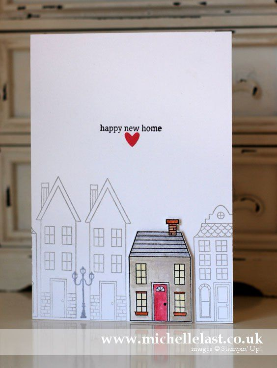 New Home card using Holiday Home from Stampin Up! - with Michelle Last