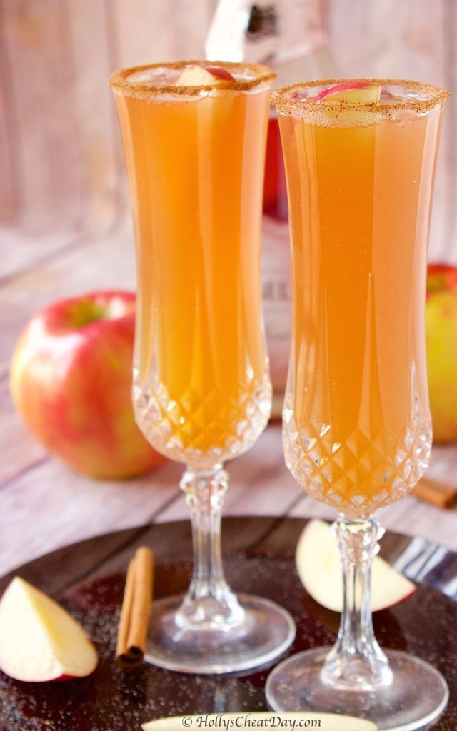 Apple-Cider-Mimosa | HollysCheatDay.com