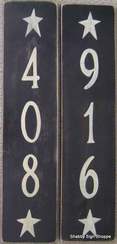 Primitive house decor diy house numbers signs custom house numbers