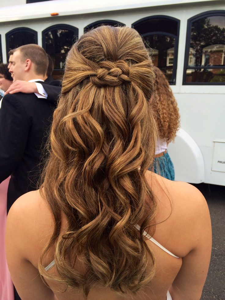 Curly prom half up/half down hair | All things PROM ...