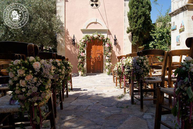Romantic wedding in Crete, flowers by Fabio Zardi. www.royalblueevents.gr