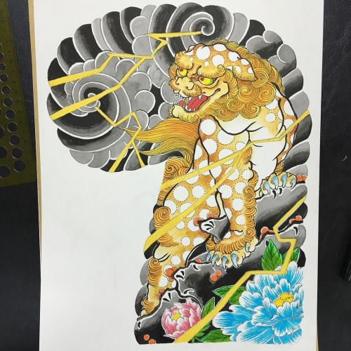 today's drawing #karajishi #唐獅子 #basic #old style よし、帰ろ(・ω・)ノ by horimasa https://www.instagram.com/p/BD8ARr0Qj1S/