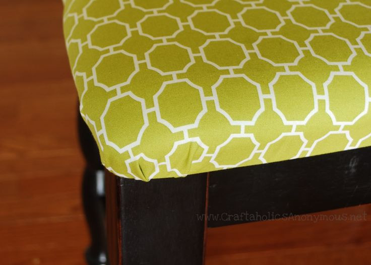 How to Upholster Dining Room Chairs... and pretty much anything else that needs to be reupholstered