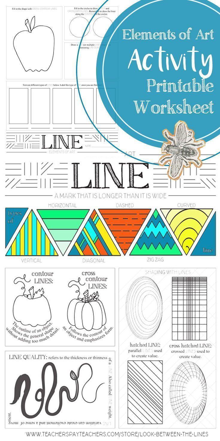 Element Of Art Line In 2020 Line Art Lesson Elements Of Art Art Worksheets