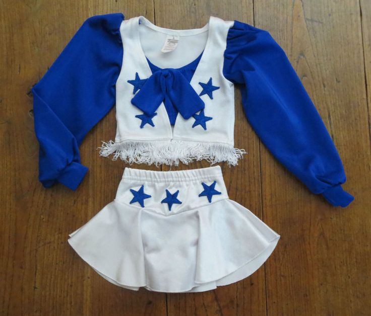 DALLAS COWBOYS FOOTBALL TODDLER GIRL'S SIZE 2/4 CHEERLEADING OUTFIT COSTUME #DALLASCOWBOYS