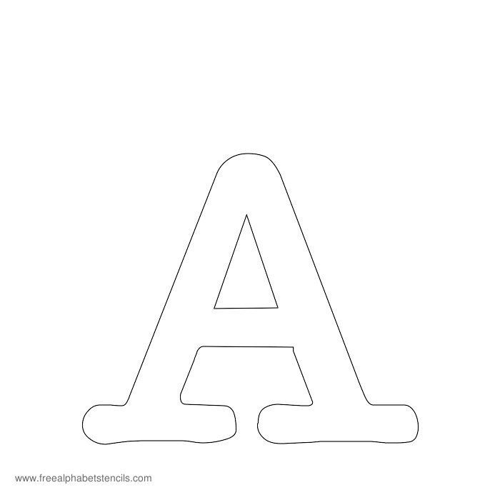 Lots of free stencils in all kinds of font: Typewriter Alphabet Stencils