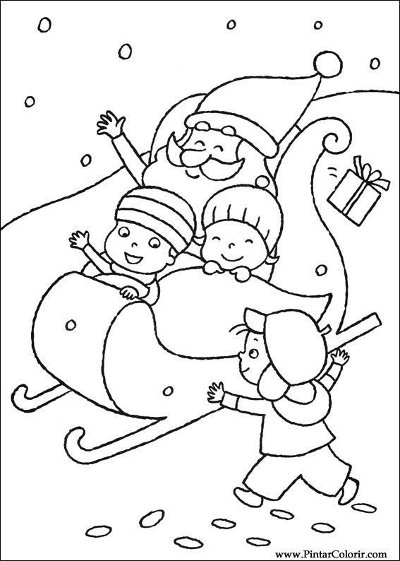 Santas Sleigh Coloring Page See The Category To Find More