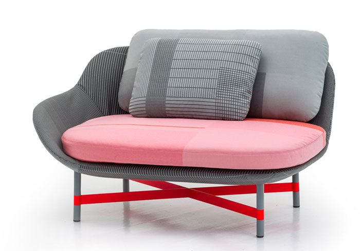 Minimalistic Ottoman Seat with Organic Form