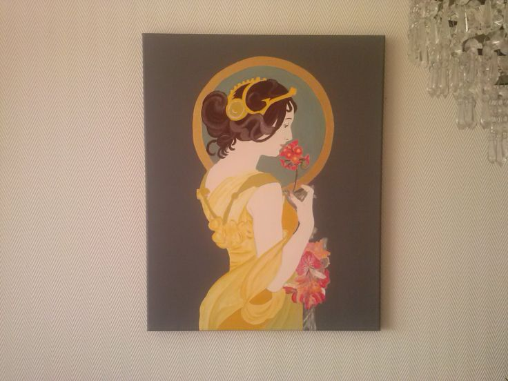 acryl // canvas, geinspireerd op mucha