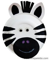 Paper Plate Zebra craft