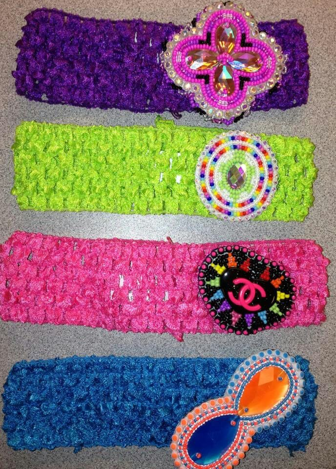 Consider, that Native american beaded rosettes strips headbands would