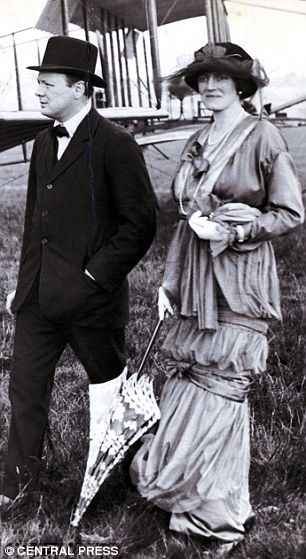 Clementine, pictured with her husband Winston Churchill in 1914, was described by an admirer as a 'sweet almond-eyed gazelle'