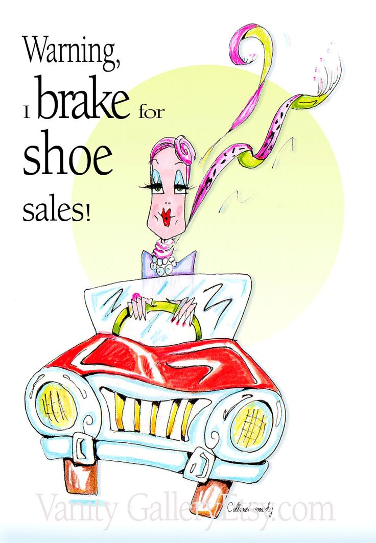 Items similar to Funny shoe humor, Shoe humor, soleful art, Woman Humor  print - a lipstick red car combined with shoe humor - on Etsy