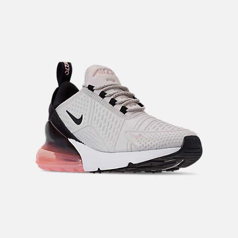 brand new 66794 05ad3 Three Quarter view of Women s Nike Air Max 270 SE Casual Shoes in Light  Bone Black Storm Pink Summit