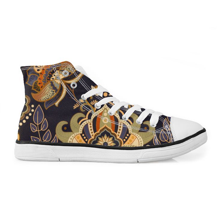 Shoe with Mandalas Gold ethno