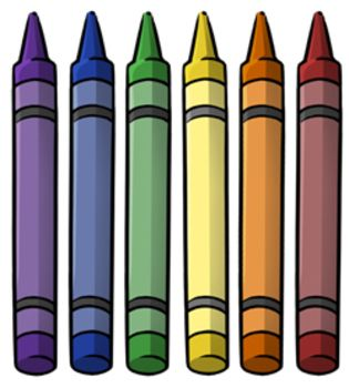 222 best clip art paint paintbrush pencils crayons images on rh pinterest com free crayon clipart black and white