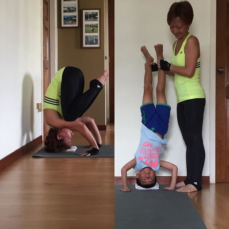 #headstandmadness2016  Mummy was trying to extend my legs up but it was so tough! Arms were not at 90 degrees too Junior got impatient and asked me to just hurry up and get over it So... He did it for me instead school hols fun for him Hosted by: @beachyogagirl & @kinoyoga  Sponsors: @omstarsapparel & @LiquidoActive CHARITY: @5Gyres - Engaging people in design and policy solutions to end the global health crisis of plastic pollution.  #yoga #yogalove #yogaeveryday day #yogafun #yogagirl…
