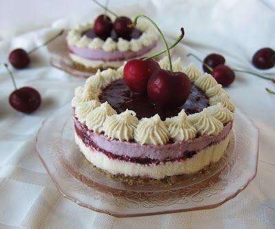 Mini Raw Cherry Lime Cheesecakes