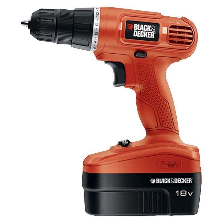 Black+decker 18v Cordless Power Drill/Driver with 30 Bonus Accessories, Orange