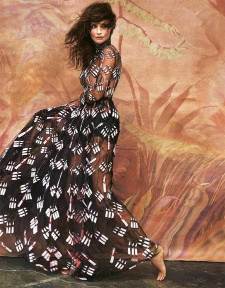 Helena Christensen Enchants For Grazia Italy - VIBZN
