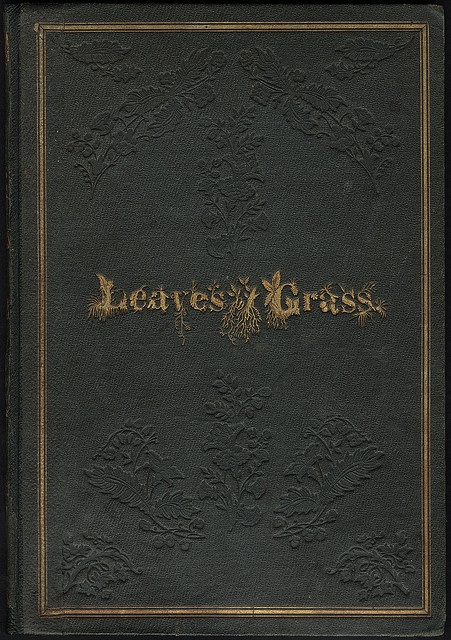 Leaves of Grass [Front cover] Walt Whitman. Boston Public Library, via Flickr