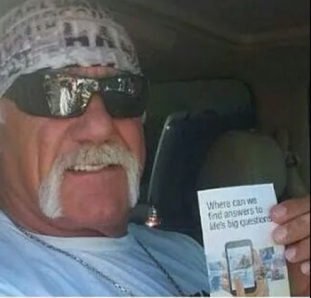 Hulk Hogan- Jehovah makes sure no one is left out! He is not one of JW's, but he got tract for our JW.org campaign. ༺♥༻ JW.org has the Bible in 300+ languages, ASL and other sign languages included. Also, jw.org has bible based study aids to read, watch, listen and download available. These aids are designed to be used with your bible.  All of these are at no charge. ༺♥༻
