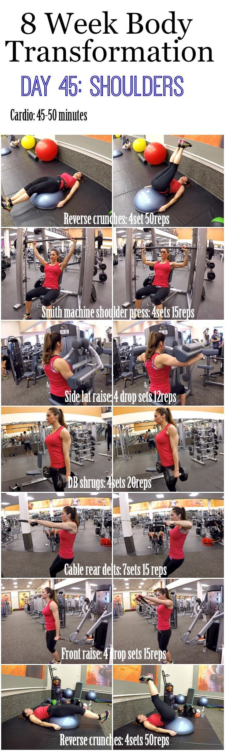 awesome 8 Week Body Transformation: Day 45 SHOULDERS - Fitness Food Diva