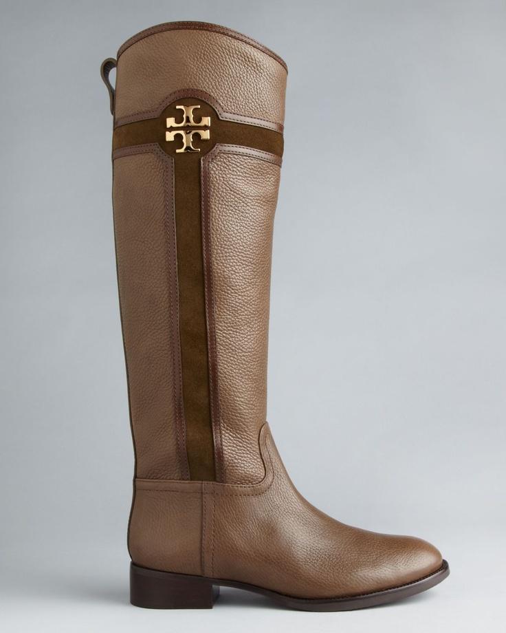 Tory Burch Flat Tall Boots - Alaina   Bloomingdale's