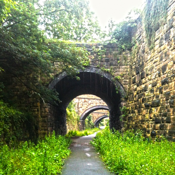 Disused railway tunnels. A Victorian engineering marvel running through the West Yorkshire town of Hecmondwike virtually unseen