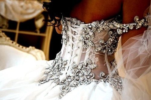 Love corset see through sparkly tops <3
