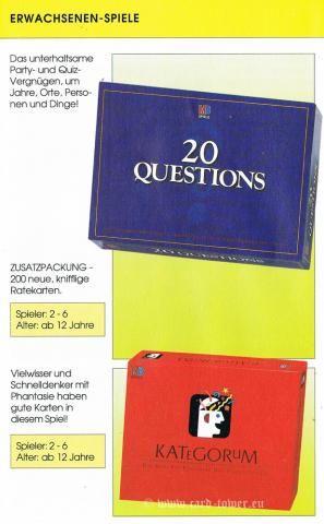 20 Questions, Kategorum