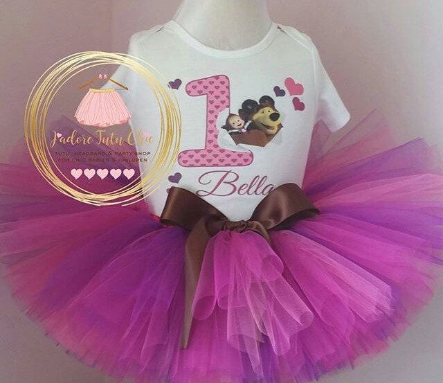 A personal favorite from my Etsy shop https://www.etsy.com/ca/listing/483848585/masha-the-bear-birthday-outfit-bear